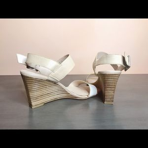 Franco Sarto Hooper Leather Wedge Sandals